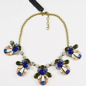 🆕J. Crew Mixed Crystal Resin Statement Necklace
